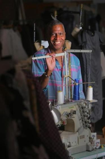 Roger Hinds makes patterns, samples, specs, and small productions, and no one can procure fabric or fasteners faster than the 59-year-old man who operates Hinds Lines & Designs in the South End.